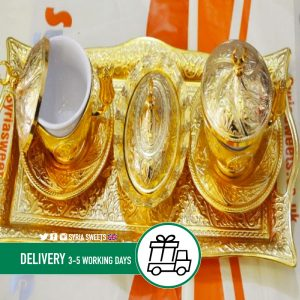 Syria-Sweet-Designs-Golden-tray-with-2-tea-cups