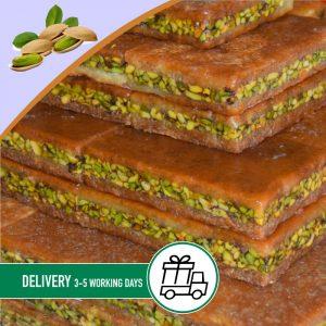 Syria-Sweet-Knafa-with-pistachio-borma