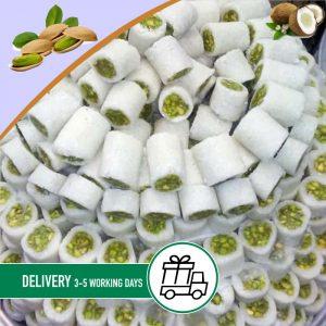 Syria-Sweet-Coconut-and-pistachio-Baklava