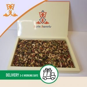 Syria-Sweet-Designs-Mixed-nuts-in-Syrian-Sweets-box