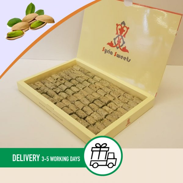 Syria-Sweet-Designs-Pistachio-fingers-in-syria-sweets-box