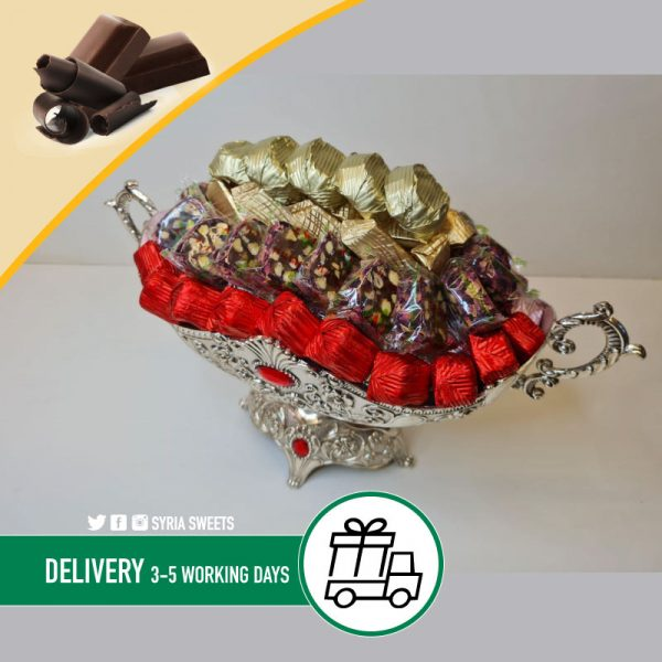 Mixed Chocolate Gold Silver Bowl Syria Sweets