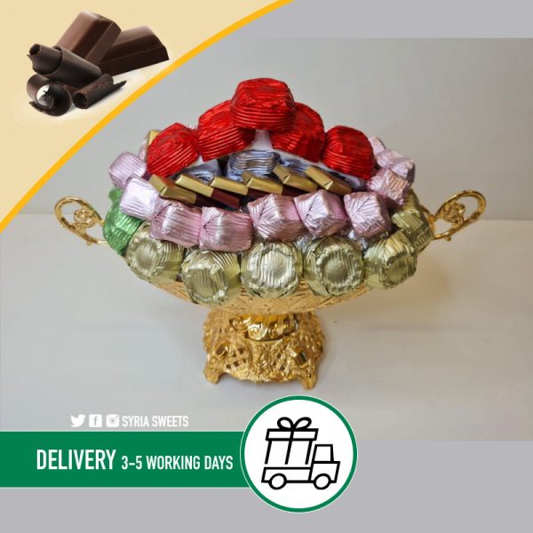 Mixed Chocolate Gold Silver Bowl Syria Sweets 2021