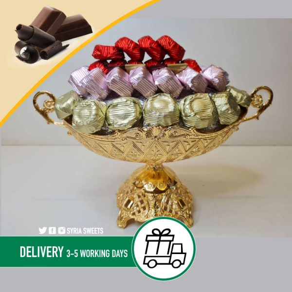 Mixed Chocolate Gold Silver Bowl Syria Sweets _3-80.jpg-2021