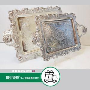 Syria-Sweet-Designs-Trays-x2-OZL-Silver